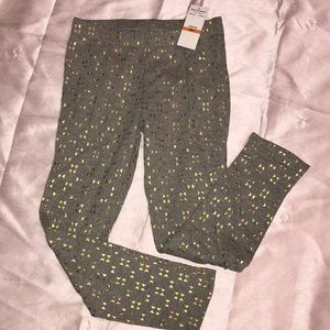 🐳3/20 NWT JUICY COUTURE GRAY GOLD LEGGINGS 7